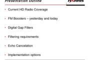 """""""On Channel"""" Repeater Implementation for HD Radio™ Coverage Improvement"""