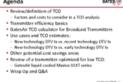 ADBS Workshop: Review of Transmitter Total Cost of Ownership