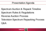 TV Spectrum Auction & Repack Update
