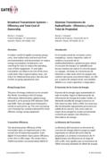 Sistemas Transmisores de Radiodifusión ‐ Eficiencia y Costo Total de Propiedad
