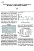 Distribution of the Analog or Digital FM Composite Multiplex Signal across IP Networks